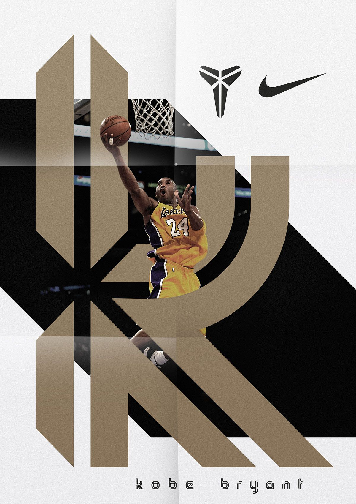 Brand typeface for NBA basketball player Kobe Bryant