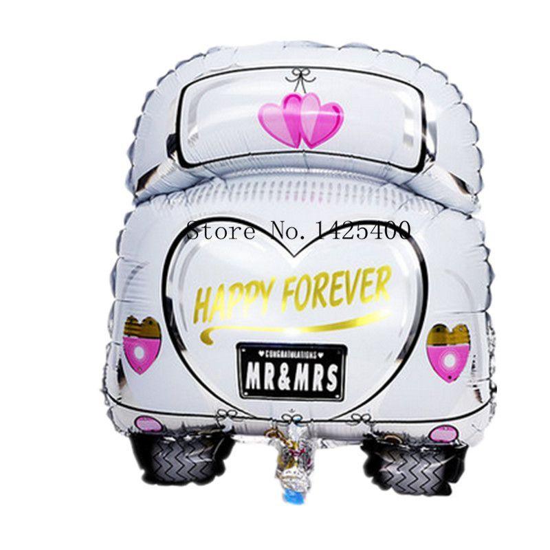 Free Shipping The New Cartoon Wedding Car Aluminum Balloons