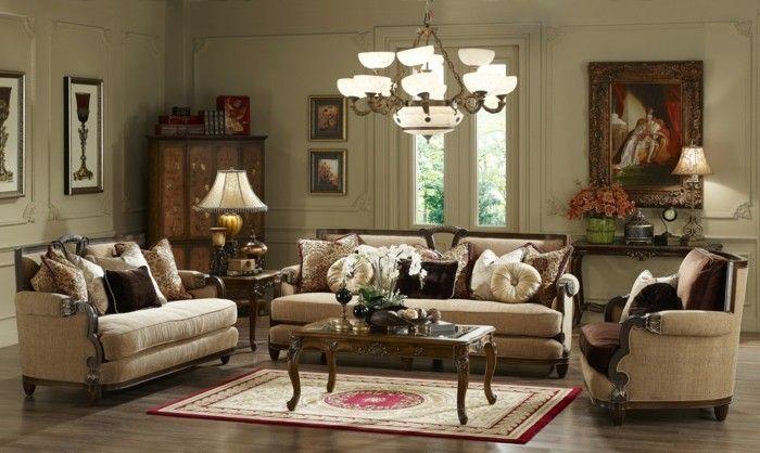 Klassische Wohnzimmer ~ Wohnideen wohnzimmer im klassischen stil mit bildern und schrank
