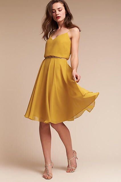 Yellow Summer Wedding Guest Dresses
