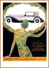 Plakat 1928: MERCEDES, Großformat 50 x70 cm NEU Reprint