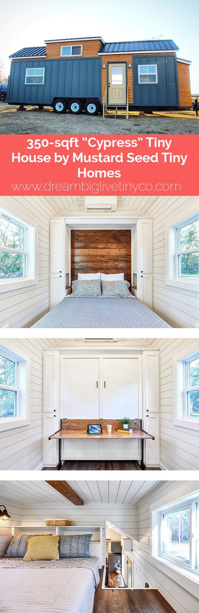 "350-sqft ""Cypress"" Tiny House by Mustard Seed Tiny Homes #tinyhousebathroom"