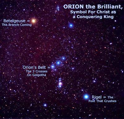 Resultado de imagen de Betelgeuse y Rigel en la constelación de Orión