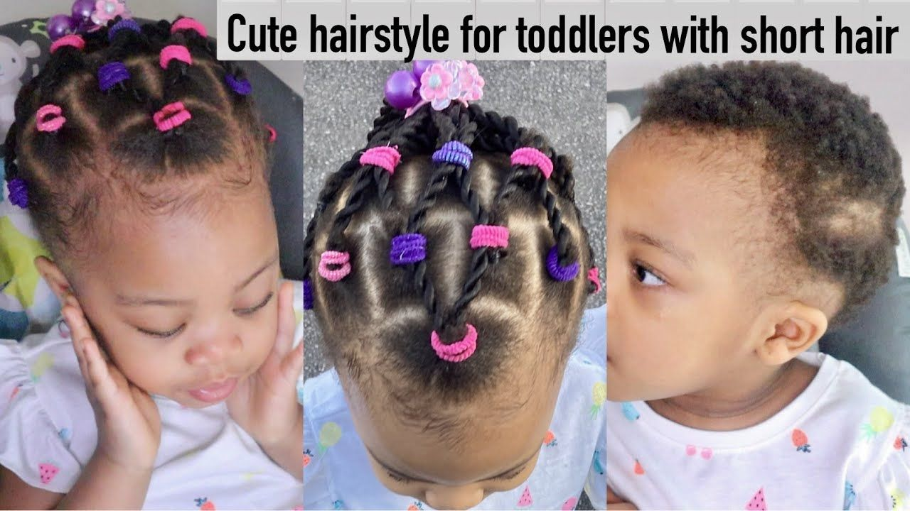 Cute Protective Hairstyle For Short Natural Hair Toddlers Braids Twist Kids Hairstyle Toddlersha Cute Toddler Hairstyles Toddler Braids Toddler Braid Styles