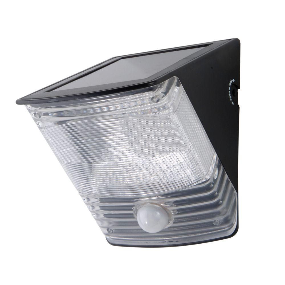 All-Pro 100 Degree Black Motion Activated Solar Powered LED Flood ...