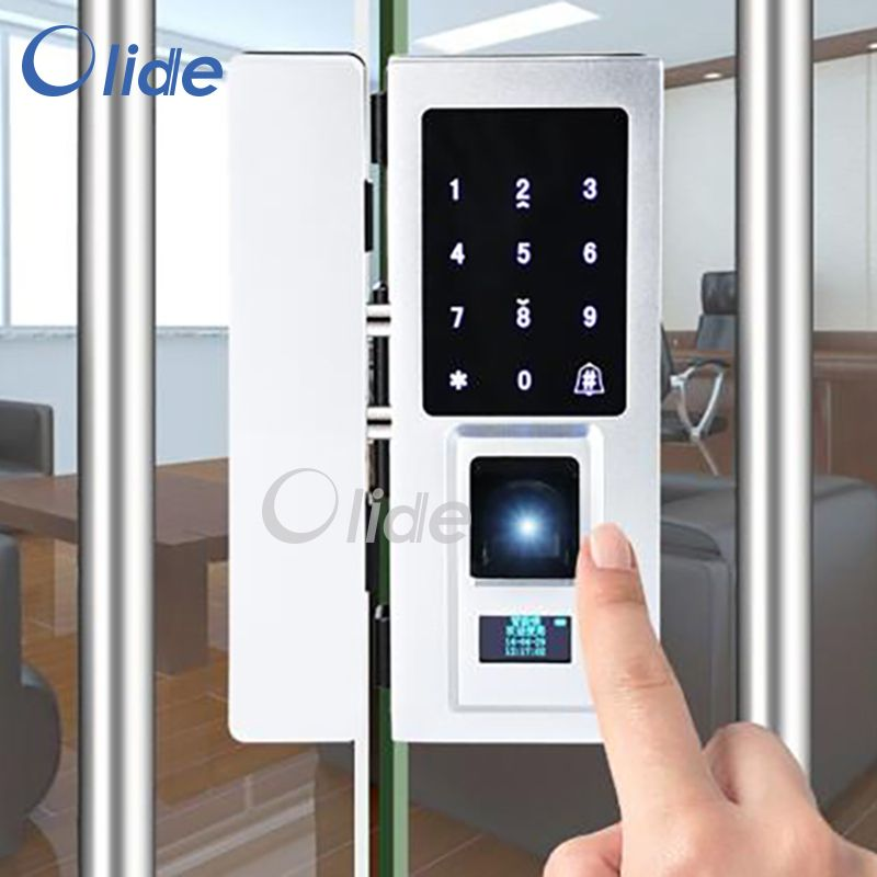 Free Samples Fingerprint Door Lock For Frameless Glass Door Automatic Fingerprint Door Lock Password Rf Frameless Glass Doors Fingerprint Door Lock Glass