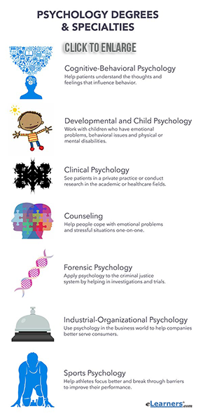 Different Types Of Psychology Fields And Degrees Psychology