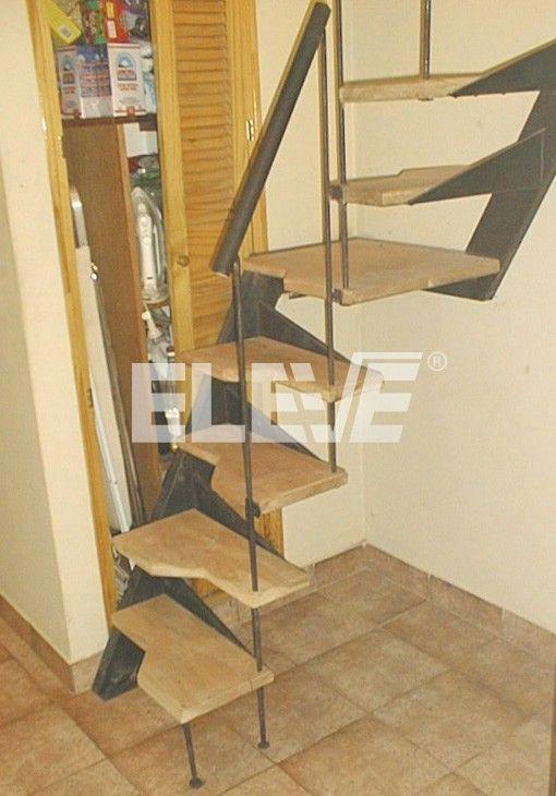 Escalera para espacios reducidos pelda os en voladizo for Diseno de interiores para espacios pequenos
