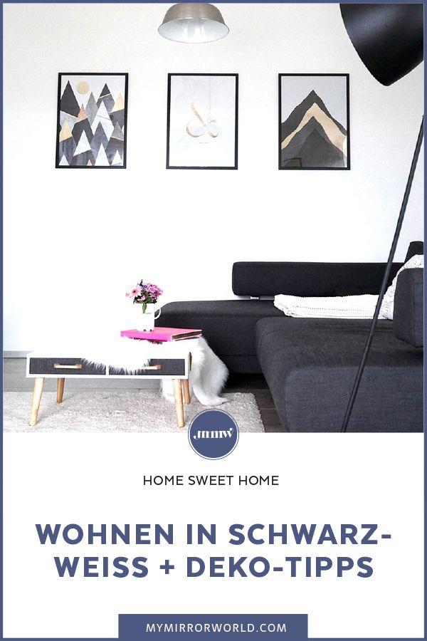Wohnen in Schwarz-Weiß + Dekotipps Interiors