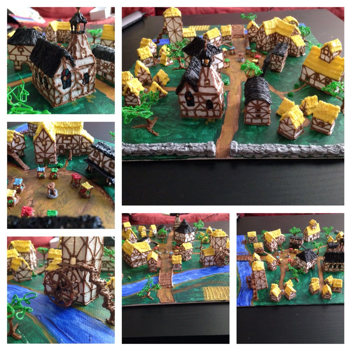 3doodler Whatwillyoucreate Medieval Village To Go With My Castle