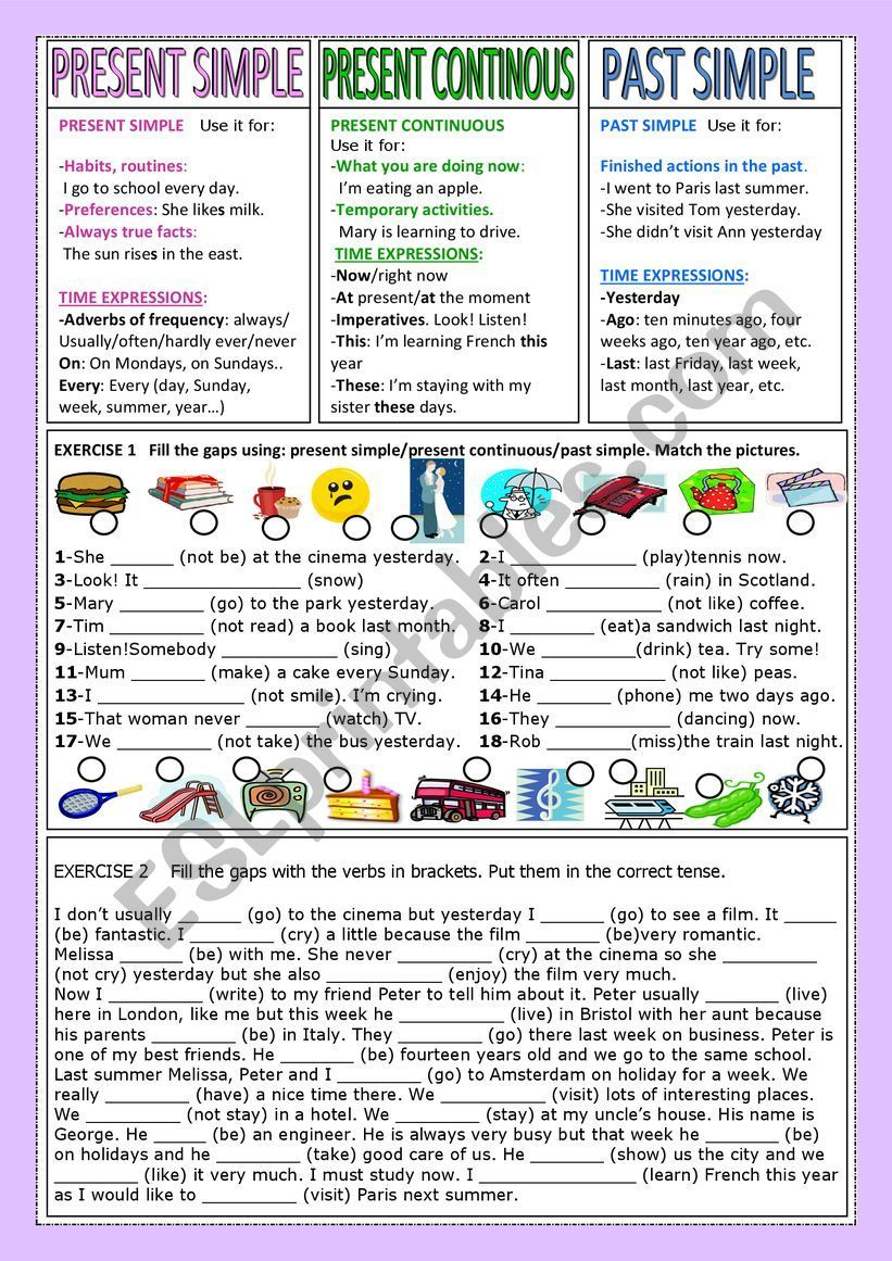 My Project 2 Students Know The Present Simple The Present Continuous And The Past Simple Qu Simple Past Tense Simple Past Tense Worksheet Past Tense Worksheet [ 1161 x 821 Pixel ]