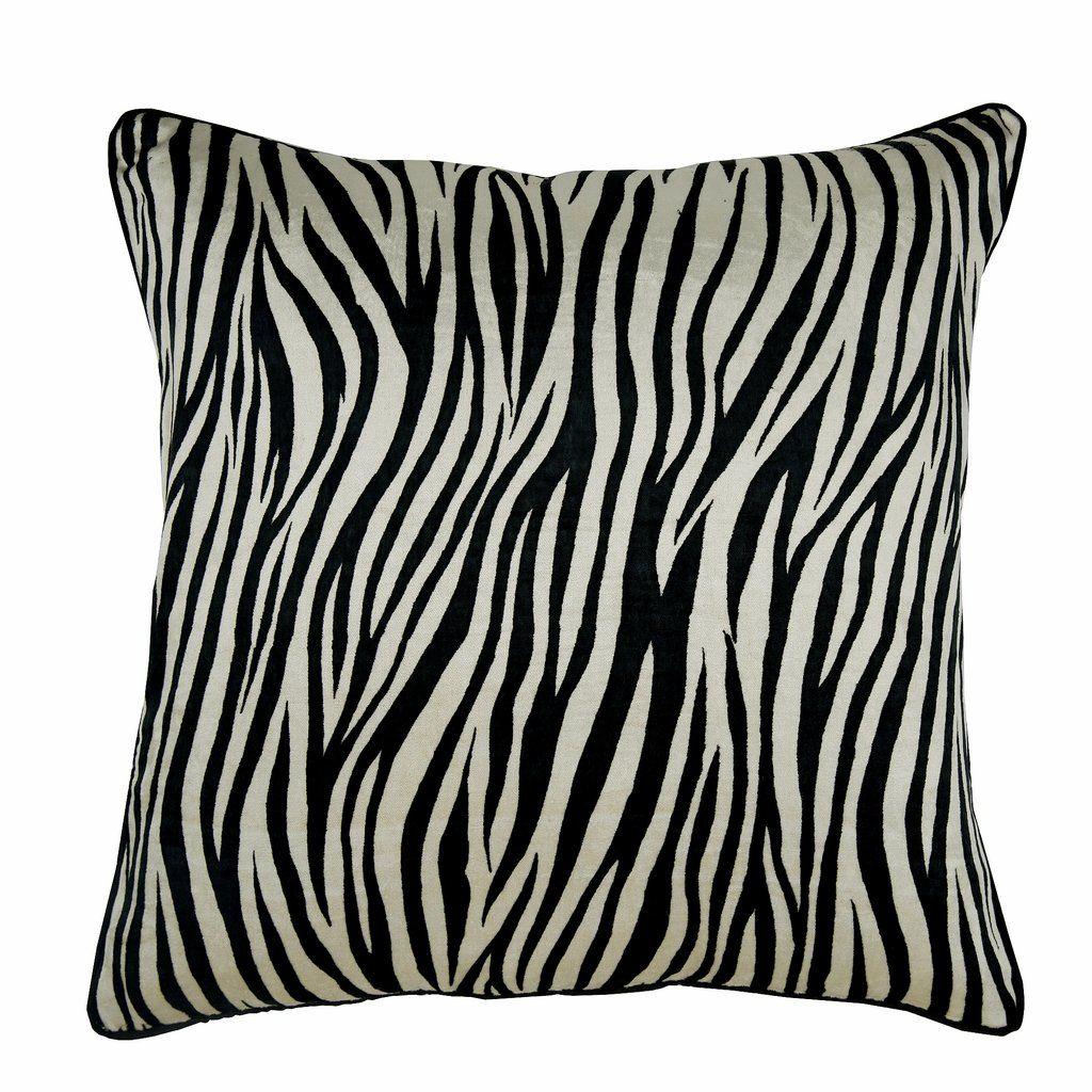 Zebra Crossing Black N White Velvet Throw Pillow Cover Zebra Pillows Velvet Throw Pillows Pillows