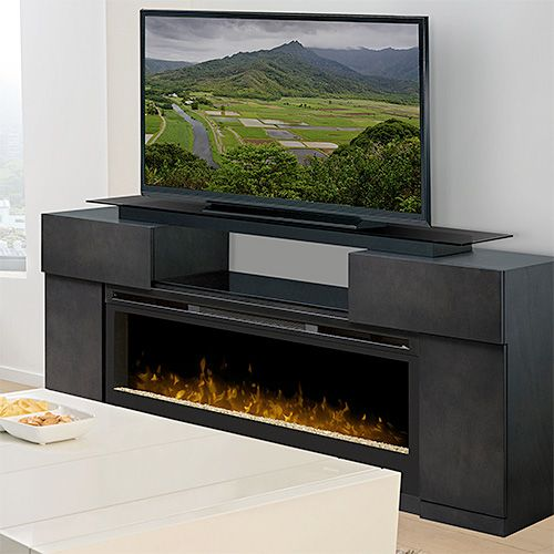 Concord Dark Grey Electric Fireplace Media Package Gds50 1243sc