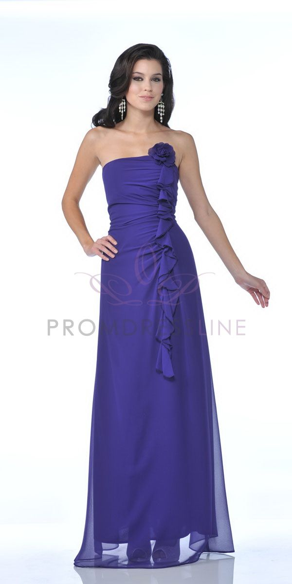 Purple Strapless Chiffon Gathered Fitted Frill Ruffled Long Brideamaid & Prom Dress - S7820 S7820 $77.00 on www.GirlsDressLine.Com  Colors: PURPLE ONLY  sizes: s - 4xl  Price: $77