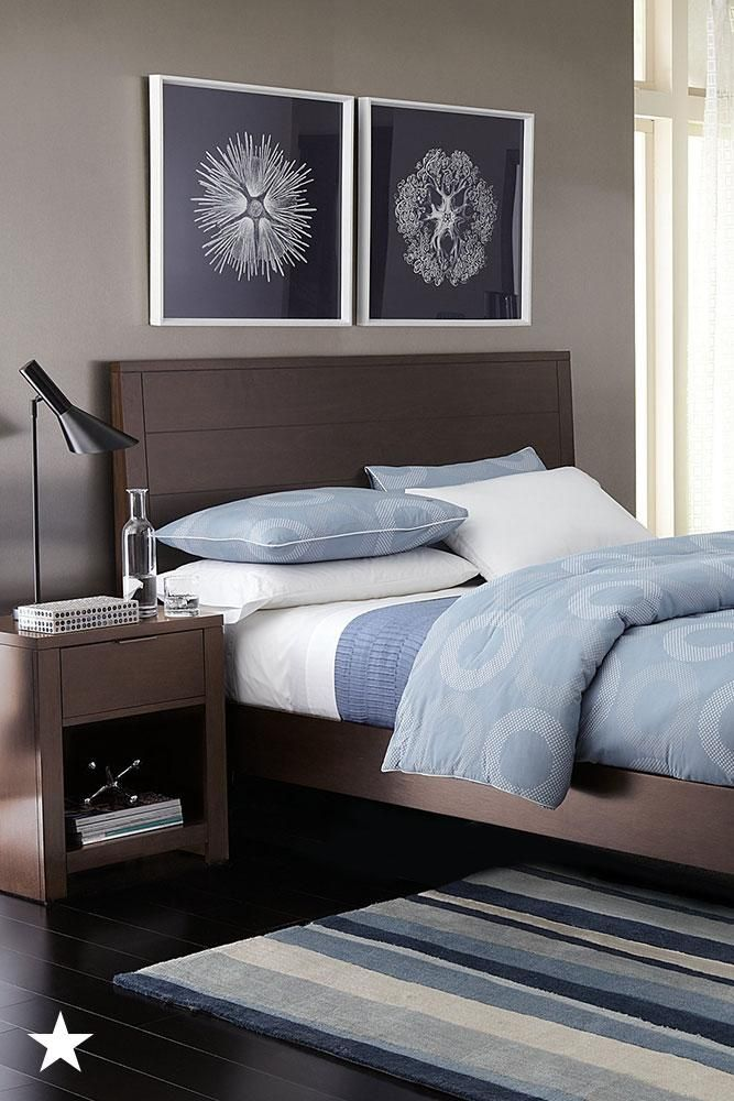 The Minimalist Design Of This Bed Frame Is A Great Choice For A Modern Styled Bedr Brown Furniture Bedroom Bedroom Collections Furniture Bedroom Furniture Sets