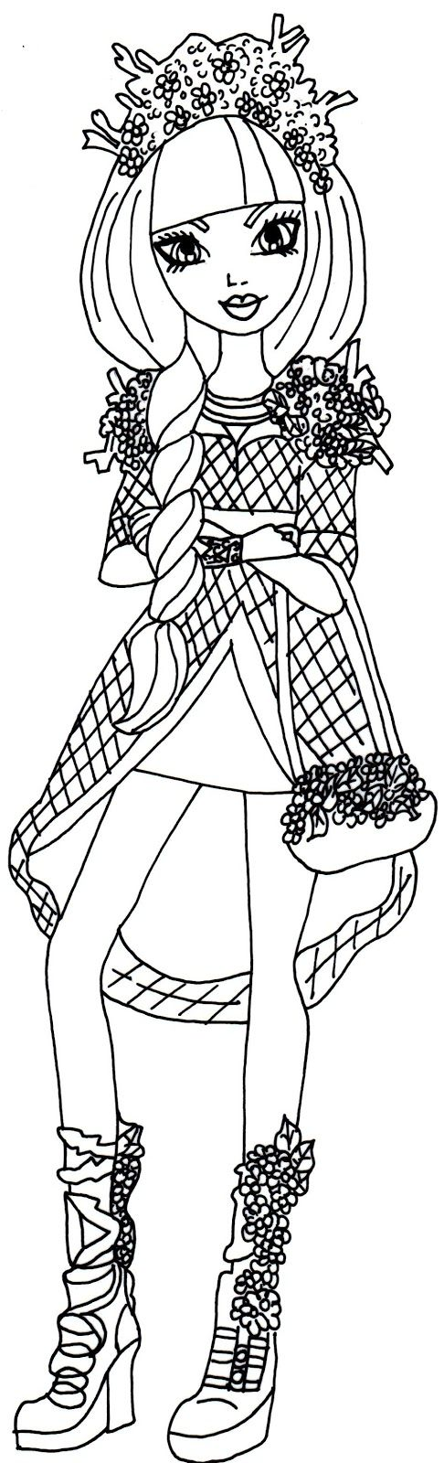free printable ever after high coloring pages lizzie hearts crown