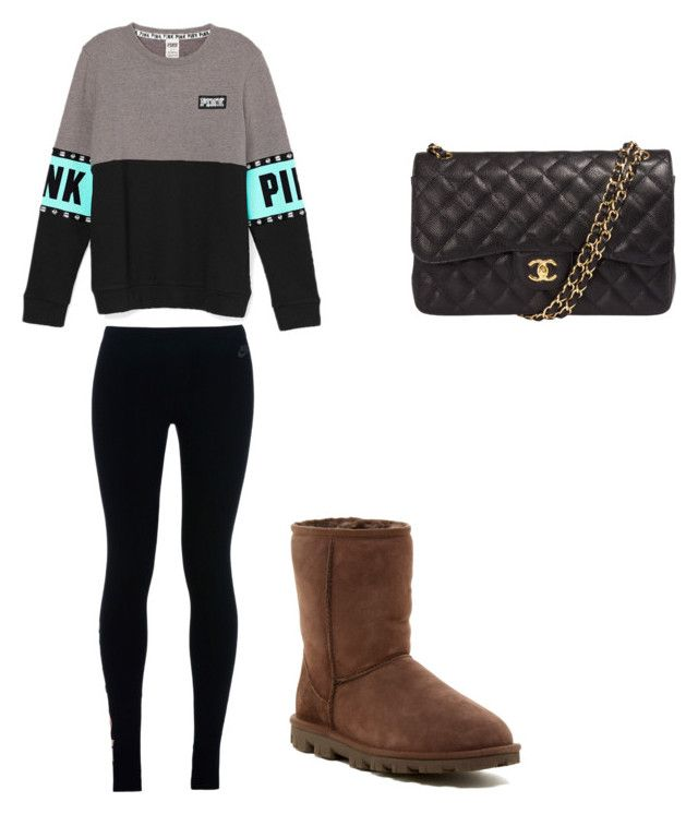 """""""Untitled #119"""" by ava-ristau on Polyvore featuring NIKE, UGG Australia and Chanel"""