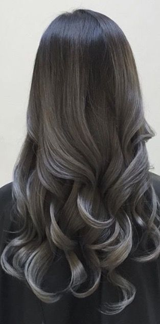 che via instagram charcoal silver colormelt balayage pinterest haarfarbe. Black Bedroom Furniture Sets. Home Design Ideas