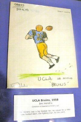 17 - Jimi Hendrix Drawing of USC Football Player