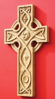 Carve And Fume A Celtic Cross The Woodworkers Institute
