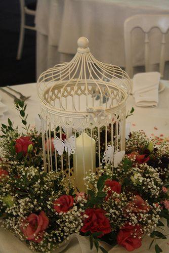 Birdcage centerpieces wedding candles