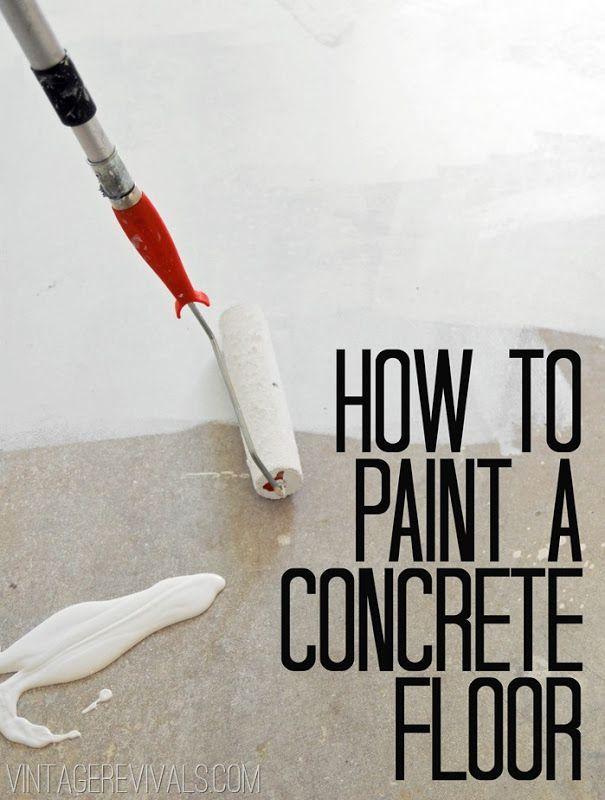 How To Paint Concrete UPDATED!! (Plus My Secret Cleaning Tip!) | Vintage Revivals | Bloglovin'