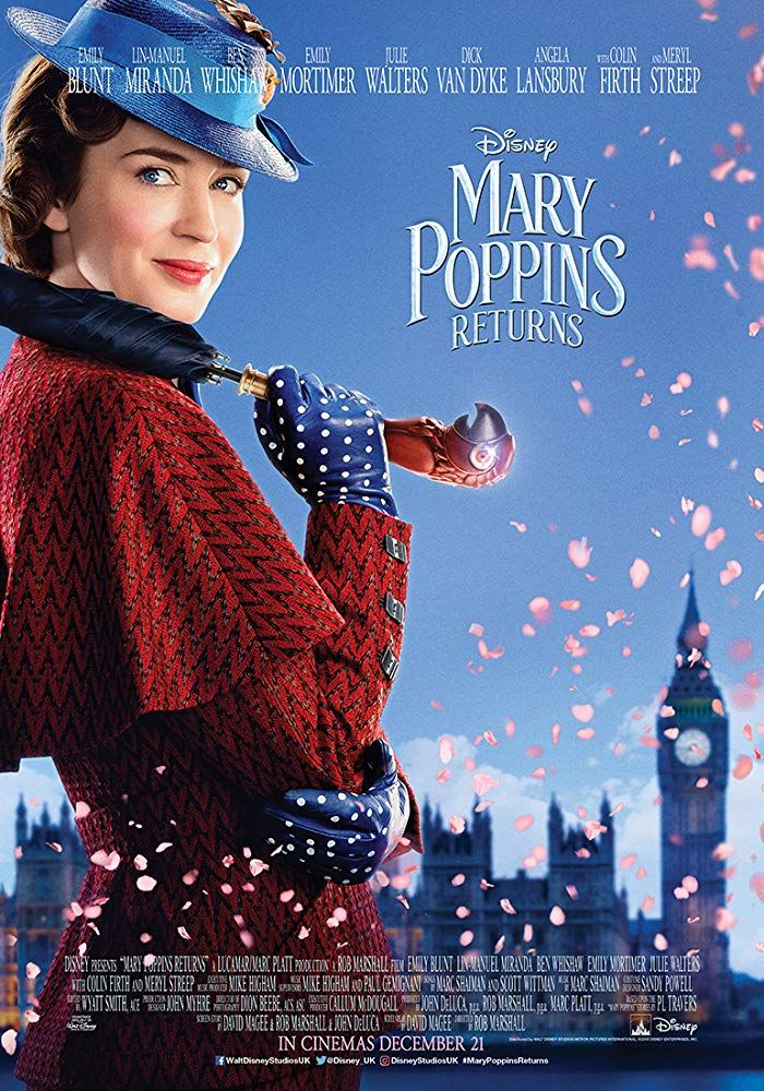 Emily Blunt In Mary Poppins Returns 2018 Mary Poppins Watch Mary Poppins Mary Poppins Movie