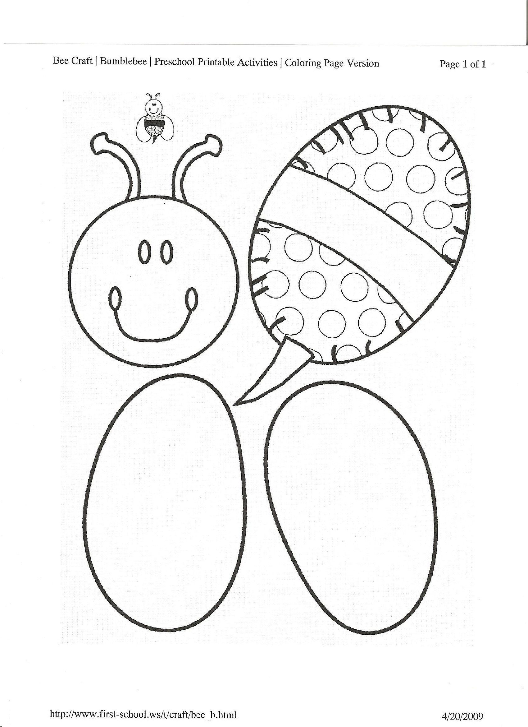 Bee Art Template