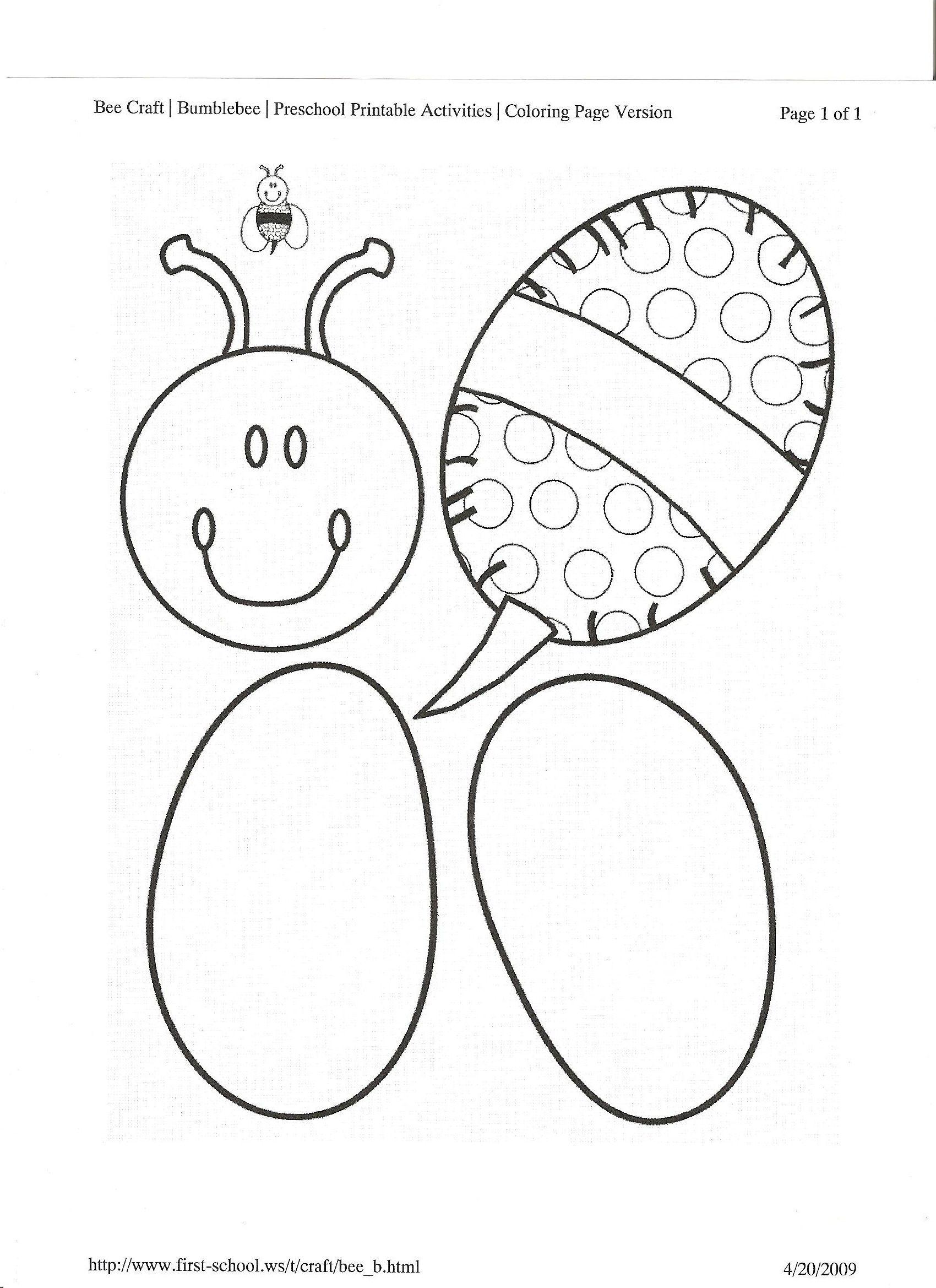 Bee Art Template