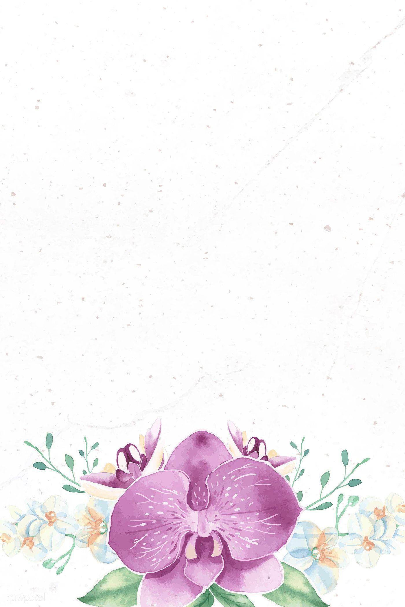 Download Premium Vector Of Purple Flower On White Background Vector 937058 Purple Flowers Wallpaper Purple Flowers Flower Background Wallpaper
