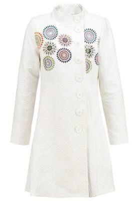 fd5ca280670 Desigual Abrigo De Paño Clásico Blanco Envuelve Tu Cuerpo Con Los Abrigos  De Mujer Envuelve tu cuerpo con los abrigos de mujer en versión minimal
