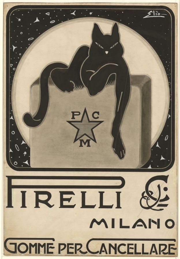 Pirelli, 1920 | Le Chat Noir & the like | Pinterest | Cartelitos ...