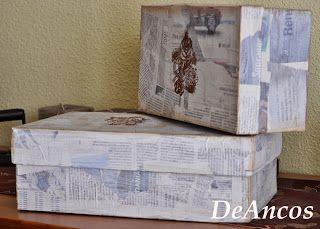 Un poco para compartir cajas de zapatos decoradas - Cajas de zapatos decoradas ...
