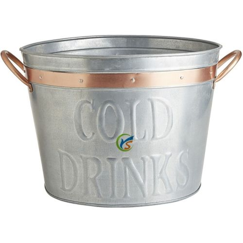 tub cooler metal galvanised marquee ice ebay bucket itm drinks for
