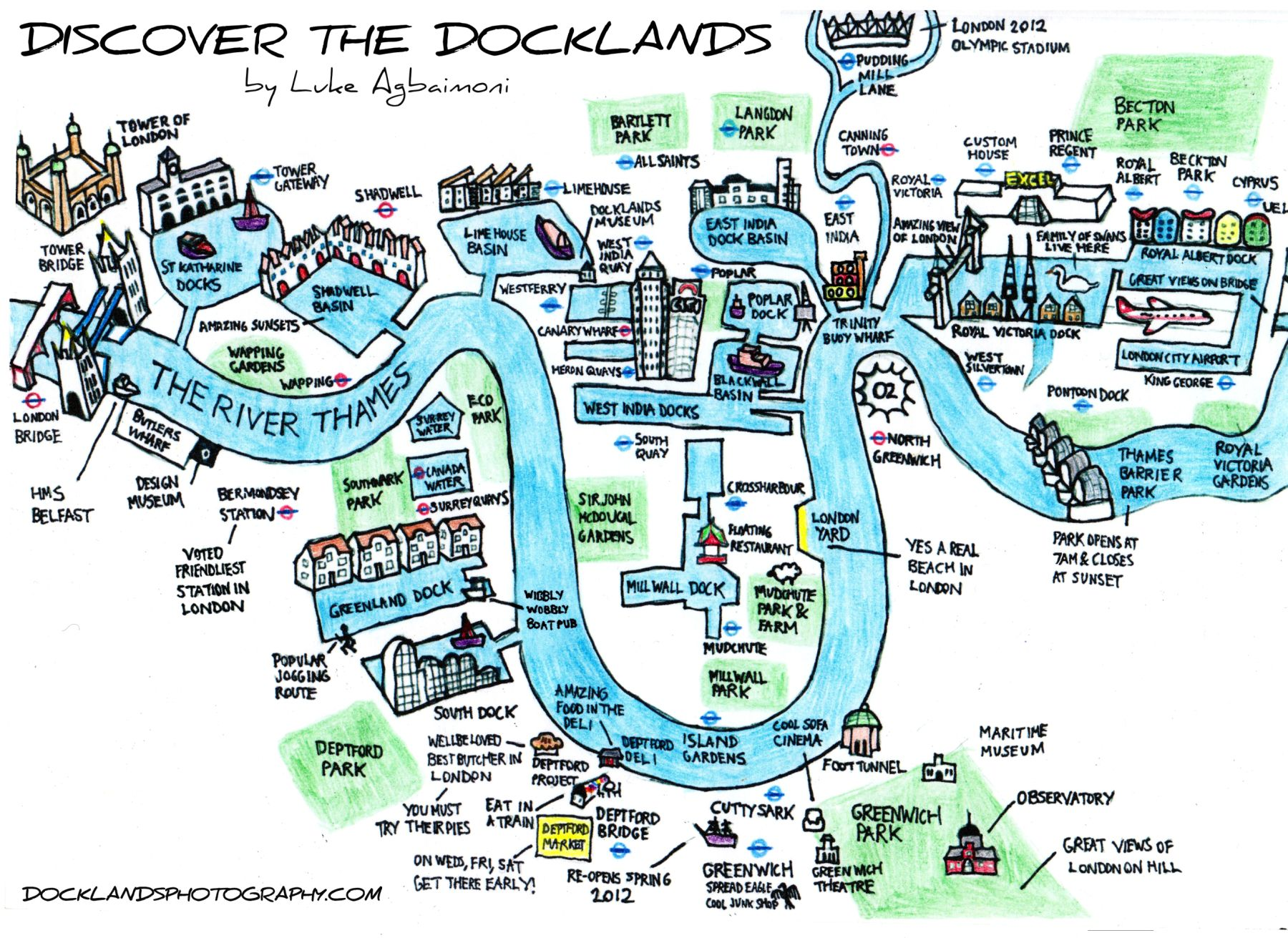 hand drawn map of london docklands maps pinterest