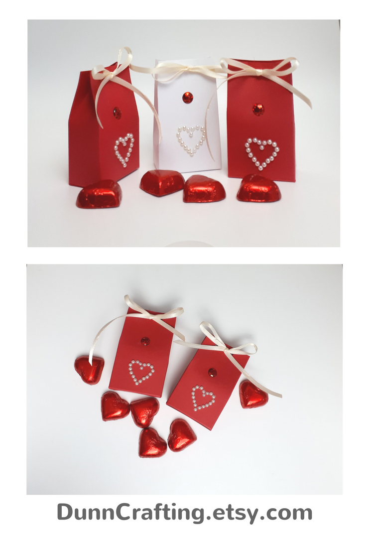 Home Red And White Wedding Favours