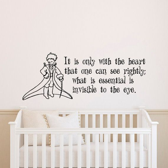 Wall decal little prince quote it is only with the heart that one can see rightly
