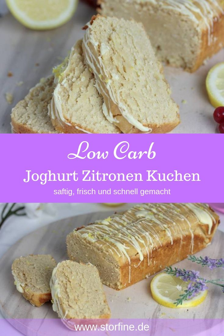 Low Carb Joghurt Zitronen Kuchen