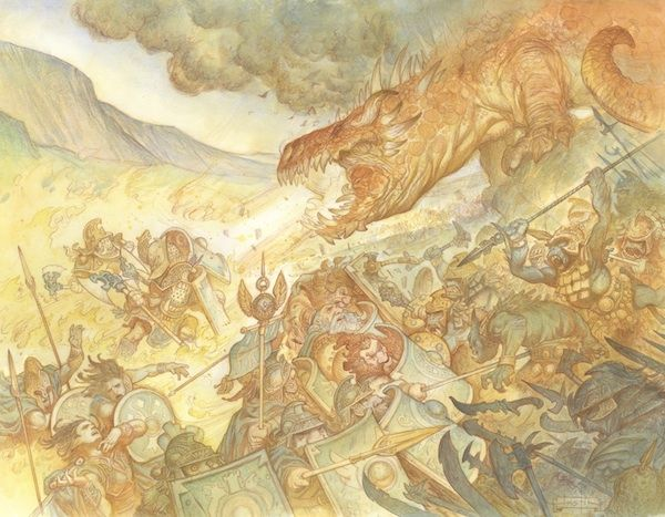 """Awesome illustrations of Tolkien's """"Silmarillion"""". Check out the series. Applause. Applause."""