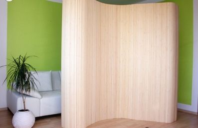 Bamboo Flexible Room Divider Screen Room Dividers OO
