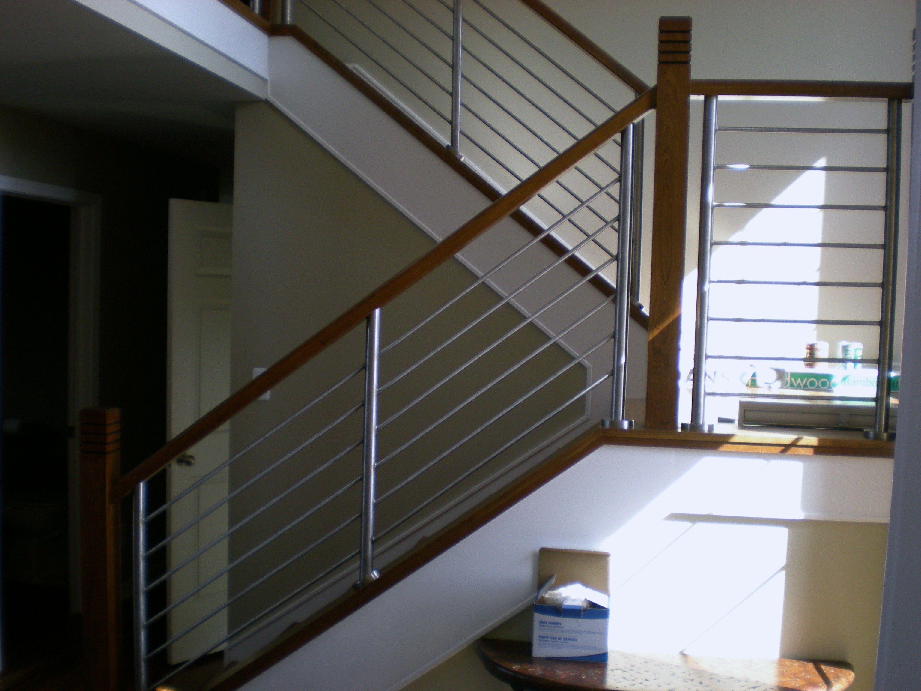 Best Pin By David On Stairs Steel Stair Railing Steel 400 x 300