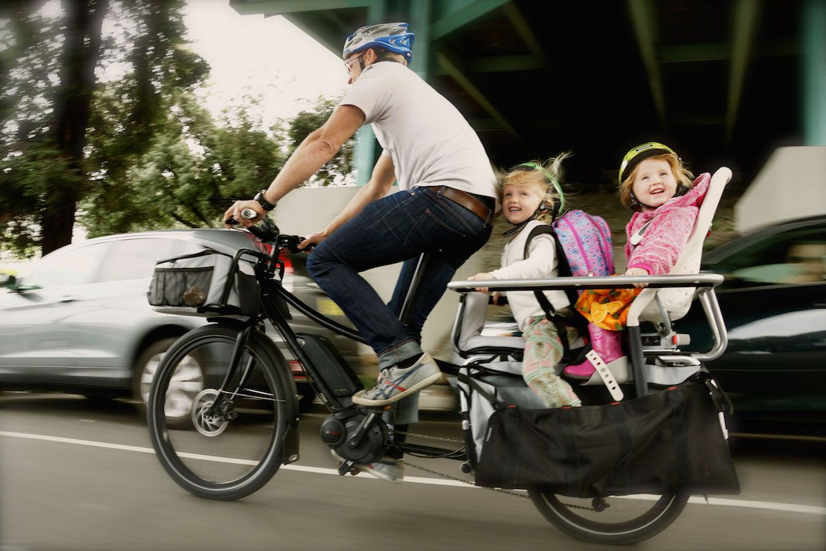 Xtracycle Edgerunner With Yepp Two Yepp Maxi Child Seats Cargo