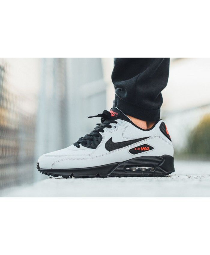 sale retailer a9a49 b48bd Nike Air Max 90 Ultra Essential Grey White Black Trainers Cheap Sale