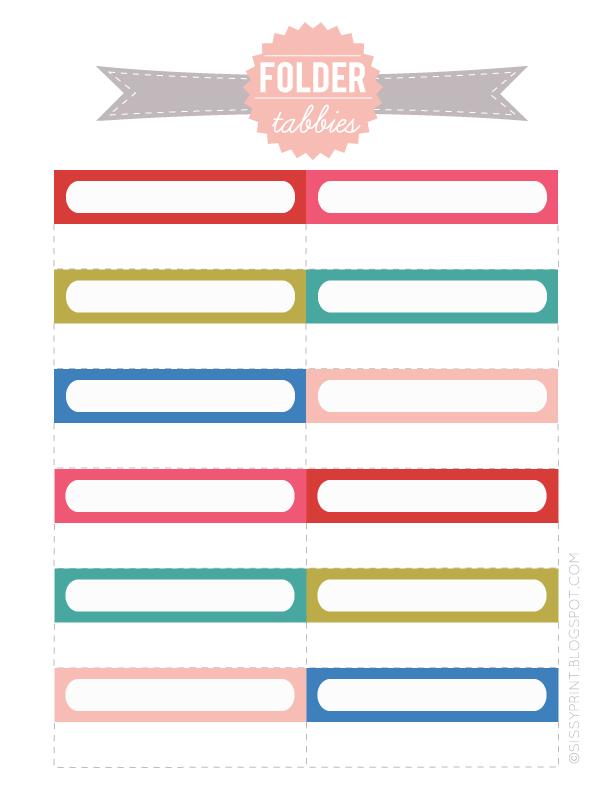 free printable file folder labels