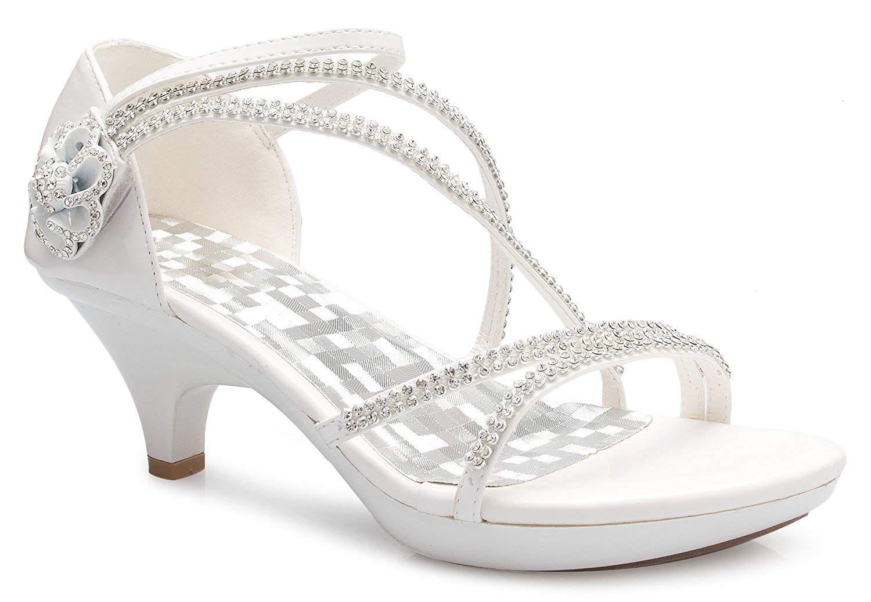 16e7cd5d025f0 Amazon.com | OLIVIA K Women's Open Toe Strappy Rhinestone Dress Sandal Low  Heel Wedding Shoes | Heeled Sandals