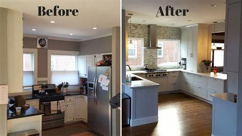 Small L Shaped Kitchen Remodel Before And After