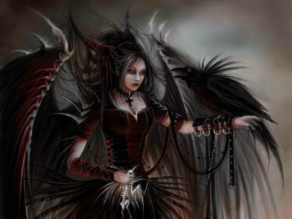 Goth angels gothic angel with crows wallpaper download the goth angels gothic angel with crows wallpaper download the free gothic angel voltagebd Gallery