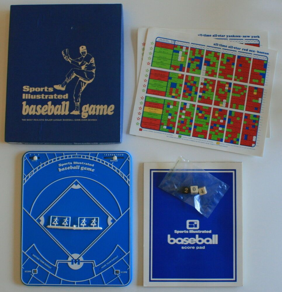 VINTAGE 1972 Sports Illustrated BASEBALL Board Game NEW in