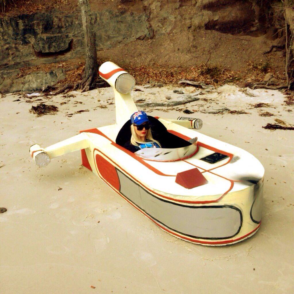 Our Raft Star Wars Australia Day Raft Race Handmade Landspeeder