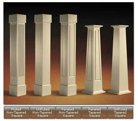 How to build square wood columns craftsman style for Polyurethane columns